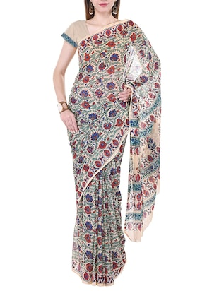 Multicolored Chiffon Printed Saree -  online shopping for Sarees