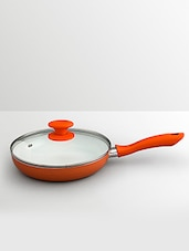 Orange Aluminum Fry Pan- - By