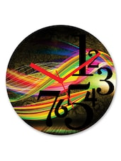 Abstract Printed Multicolor Round Wall Clock - By