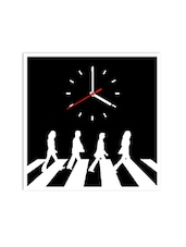 White Acrylic Abbey Road  Wall Clock - By