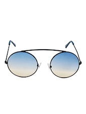 Blue Full Rim Round Sunglasses. - By