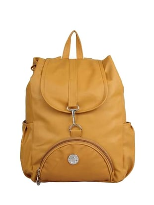 yellow leather backpack -  online shopping for backpacks