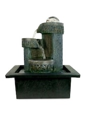 Black And Grey Polyresin Indoor Water Fountain - By