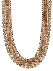 Gold Embellished Metallic Statement Necklace - By