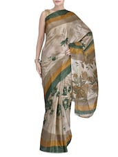 Green Art Silk Floral Printed Saree - By