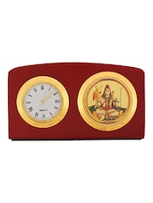 Leganza Shiv Shankar Table Clock Idol Brown Golden -  online shopping for Table Clocks