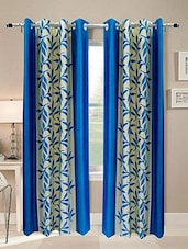 R Trendz Polyester  Printed Set Of 2 Window Curtain - By