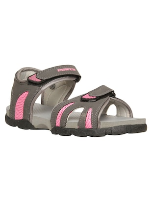 grey synthetic floaters -  online shopping for sandals