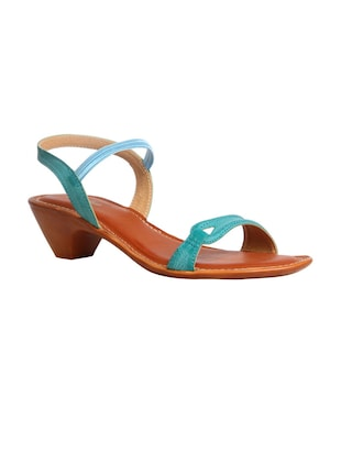 blue synthetic back strap sandals -  online shopping for sandals