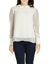 white georgette top -  online shopping for Tops