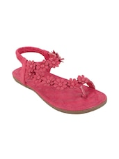 pink pu back strap sandals -  online shopping for sandals