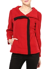 Solid Red Polar Fleece Jacket - By