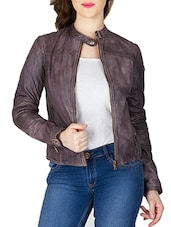 purple leather jacket -  online shopping for jackets