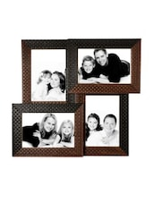 Brown Faux Wood Collage Photo Frame For 4 Photos - By