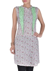 Pink Cotton Printed Tie Up Kurti - By
