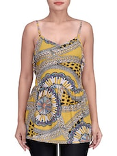 Multicolored Polyester Crepe Printed Cami Top - By