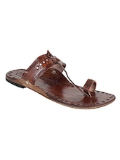 brown one toe kolhapuri -  online shopping for Kolhapuris