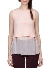 pink chiffon regular top -  online shopping for Tops