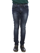 blue cotton skinny jeans -  online shopping for Jeans