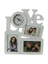 Priya Collections Love Clock With 3 Photo Frame - By