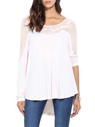 light pink viscose regular top -  online shopping for Tops