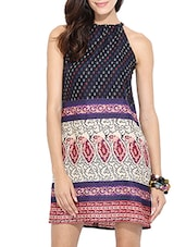 multicolored printed rayon shift dress -  online shopping for Dresses