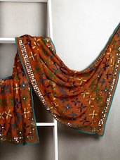 Orange Phulkari Dupatta - By
