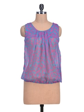 Purple Polyester Printed Top - By