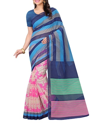 multi colored cotton printed saree -  online shopping for Sarees
