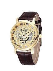 Jay Creation Brown Color Leather Belt Men's Analog Watch -  online shopping for Analog Watches