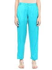 sea green rayon chinos trouser -  online shopping for Tapered Pants