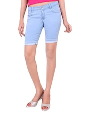 light blue denim shorts -  online shopping for Shorts
