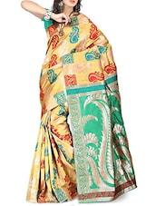 Multicolor Banarasi Silk Saree - By