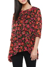 multicolored floral printed georgette regular top -  online shopping for Tops