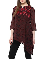 black printed georgette tunic -  online shopping for Tunics