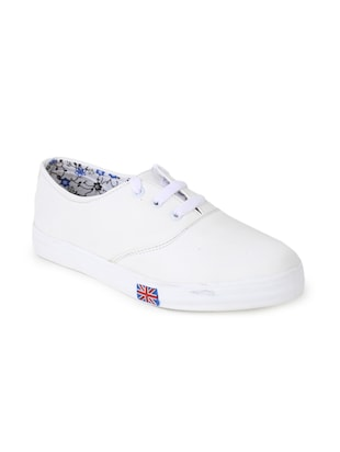 White lace up sneaker -  online shopping for Sneakers