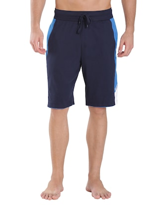 blue cotton short -  online shopping for Shorts