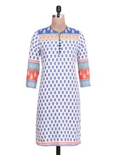 Multi Cotton Polka Dot Printed  Kurta - By