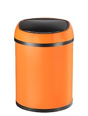 Spread automatic motion sensor/ Handfree Orange dustbin - 8 Ltr -  online shopping for Wastebins