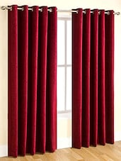 R Trendz Plain Single Window Curtain -  online shopping for Curtains
