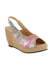 pink synthetic back strap wedges -  online shopping for wedges