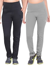 set of 2 multicolored cotton track pants -  online shopping for Track pants