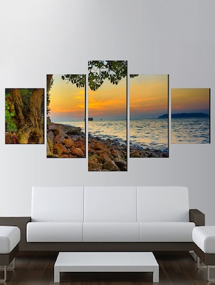 Poster ( Goa sunset,Wall Covering Area 48 x 23 Inch) -  online shopping for Posters