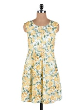 Multicolored Cotton Floral Printed Dress - By