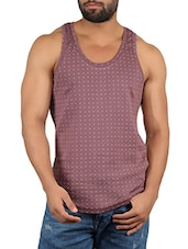 brown cotton vest -  online shopping for Vests