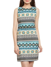 Multicolored Printed Sheath Dress