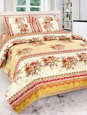 FURHOME FLORAL PRINT DOUBLE BED SHEET WITH 2 PILLOW COVERS -  online shopping for bed sheet sets