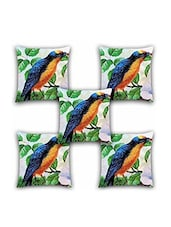 Ambbi Collection Digitally Printed Cushion Cover Bird & Leaves Set Of 5 - By