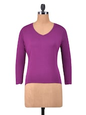 Purple Viscose Plain Top - By