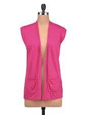 Pink Viscose Plain Shrugs - By